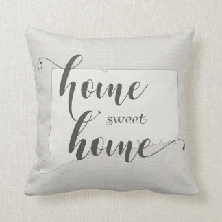 Connecticut - Home Sweet Home burlap-look Throw Pillow