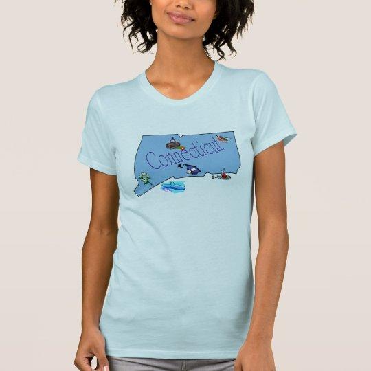 Connecticut Ladies Petite T-Shirt