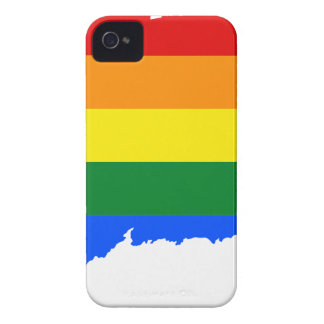 Connecticut LGBT Flag Map iPhone 4 Case-Mate Cases