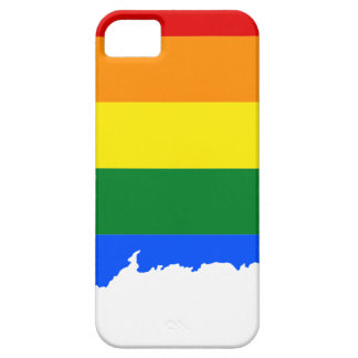 Connecticut LGBT Flag Map iPhone 5 Cases