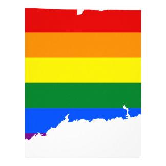 Connecticut LGBT Flag Map Letterhead