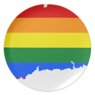 Connecticut LGBT Flag Map Plate