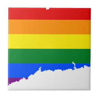 Connecticut LGBT Flag Map Tile
