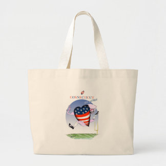 connecticut loud and proud, tony fernandes large tote bag