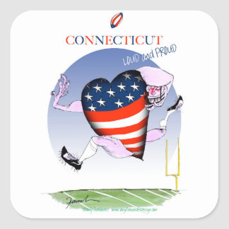 connecticut loud and proud, tony fernandes square sticker