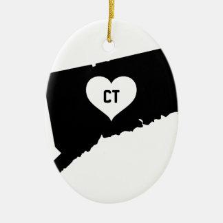 Connecticut Love Ceramic Ornament
