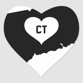 Connecticut Love Heart Sticker