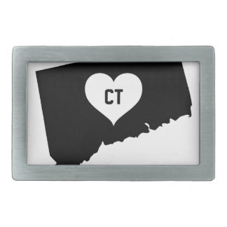 Connecticut Love Rectangular Belt Buckle