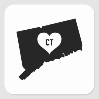 Connecticut Love Square Sticker