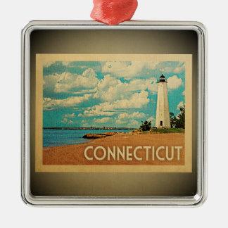Connecticut Ornament Vintage Travel