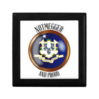 Connecticut Proud Flag Button Jewelry Boxes