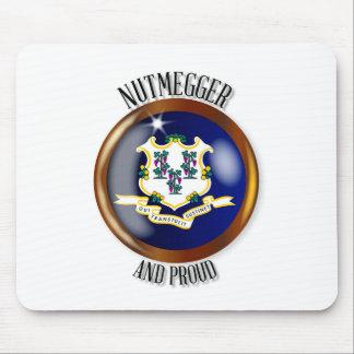 Connecticut Proud Flag Button Mouse Pad
