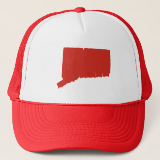 Connecticut Red State Snap Back Mesh Trucker Hat