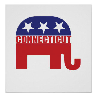 Connecticut Republican Elephant Poster