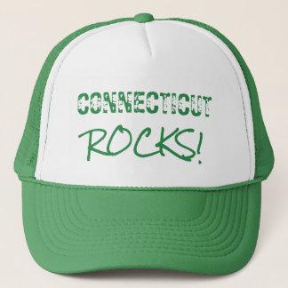 CONNECTICUT Rocks Words Green Hat