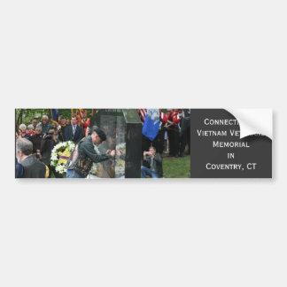 Connecticut s Vietnam Veterans Memorial Bumper Sticker