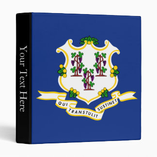 Connecticut State Flag 3 Ring Binders