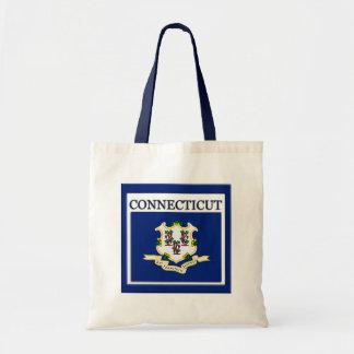 Connecticut State Flag Design Budget Canvas Bag