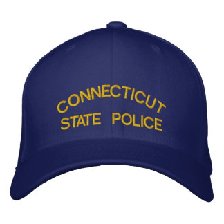 CONNECTICUT, STATE POLICE EMBROIDERED HAT