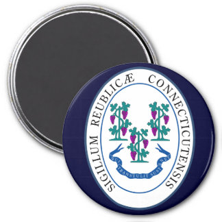 Connecticut State Seal 3 Inch Round Magnet