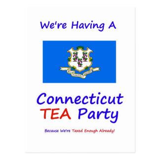 Connecticut TEA Party - We're Taxed Enough Already Postcard
