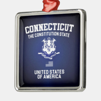 Connecticut The Constitution State Metal Ornament