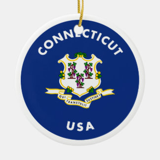 Connecticut USA Ceramic Ornament