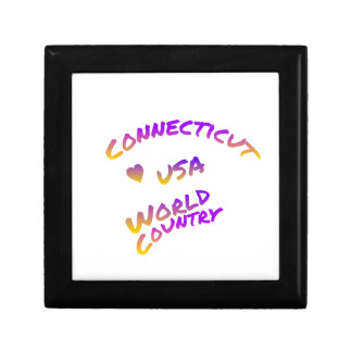 Connecticut usa world country, colorful text art gift box