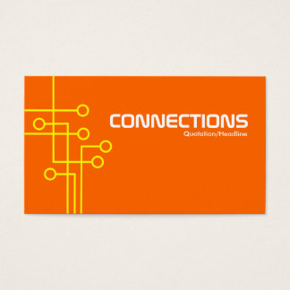 Connections - Yellow and Orange Business Card