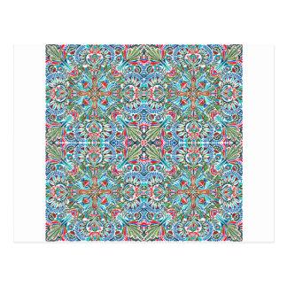 Connectivity - endless pattern postcard