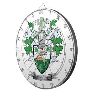 Connell Coat of Arms Dartboard With Darts