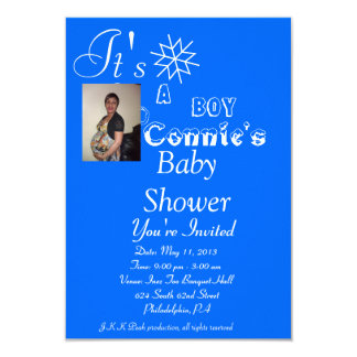 "Conniebabyshower 3.5"" X 5"" Invitation Card"