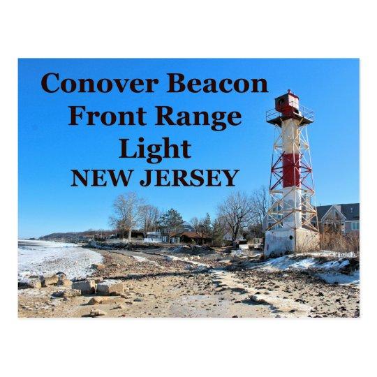 Conover Beacon Front Range Light, NJ Postcard