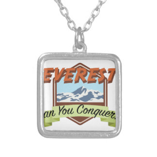 Conquer Everest Silver Plated Necklace