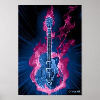 Conquer Guitar Poster