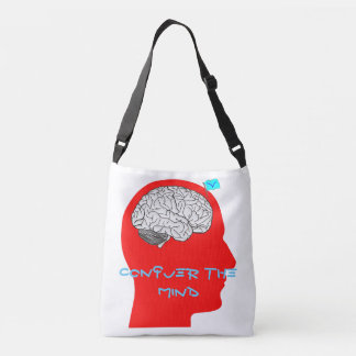 Conquer the mind tote bag