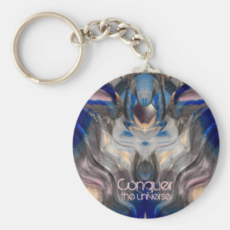 Conquer the Universe Basic Round Button Keychain
