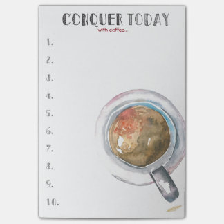 Conquer Today (with coffee...) Post-it® Notes