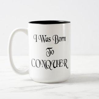 Conquer Two-Tone Coffee Mug
