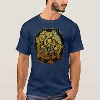"""Conquer Yourself"" Octopus Tee GOLD"