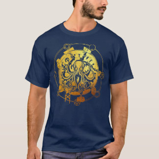 """Conquer Yourself"" Octopus Tee GOLD 1 Color"