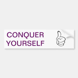 Conquered Bumper Sticker