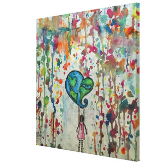 Conquering Chaos Love Abstract Canvas Print