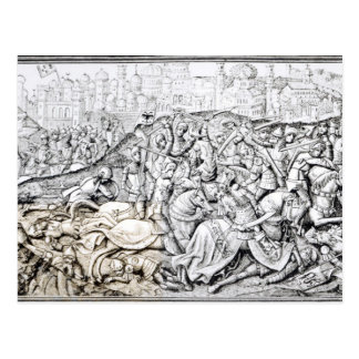 Conquest of Jerusalem by Charlemagne Postcard