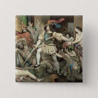 Conquest of Mexico 2 Inch Square Button