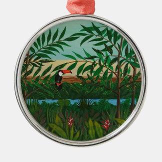 Conquistador's dream Silver-Colored round ornament