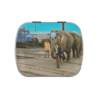 Conrail Elephants on The March Candy Tin