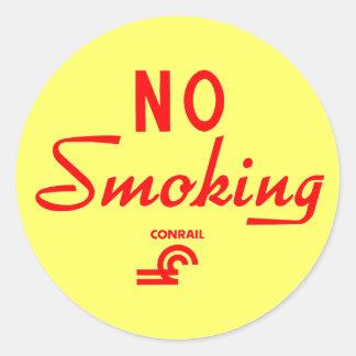 Conrail No Smoking Sign Classic Round Sticker