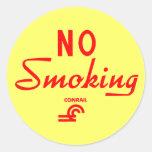 Conrail No Smoking Sign Stickers