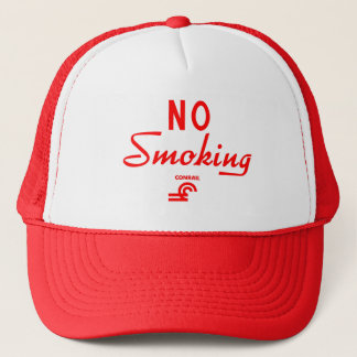 Conrail No Smoking Sign Trucker Hat